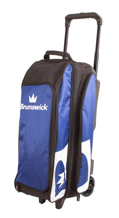 Brunswick Blitz 3 Ball Triple Roller Bowling Bag Blue