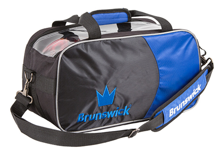Brunswick Crown 2 Ball Double Tote Bowling Bag Royal