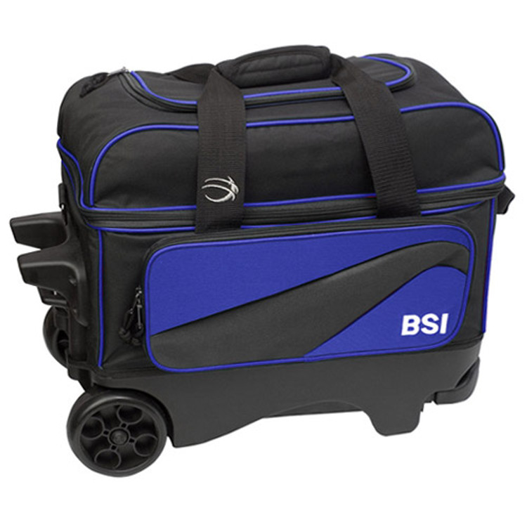 BSI Large Wheels Double Roller Blue Front View