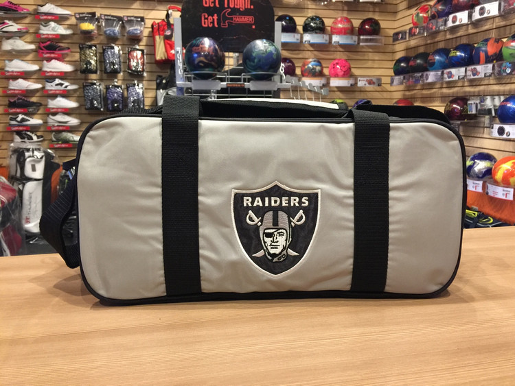 KR NFL 2 Ball Double Tote Bowling Bag Raiders