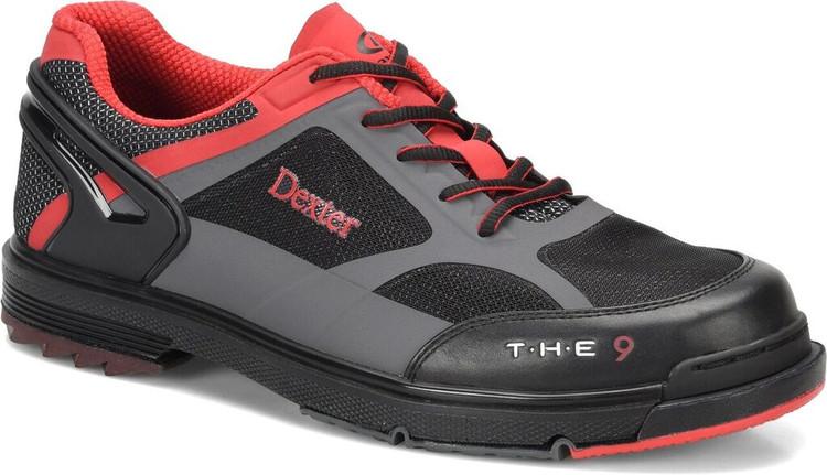 Dexter T.H.E. 9 HT Mens Bowling Shoes Black Red Grey Wide Width
