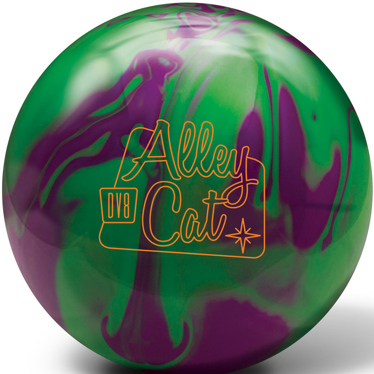 DV8 Alley Cat Purple Green Bowling Ball