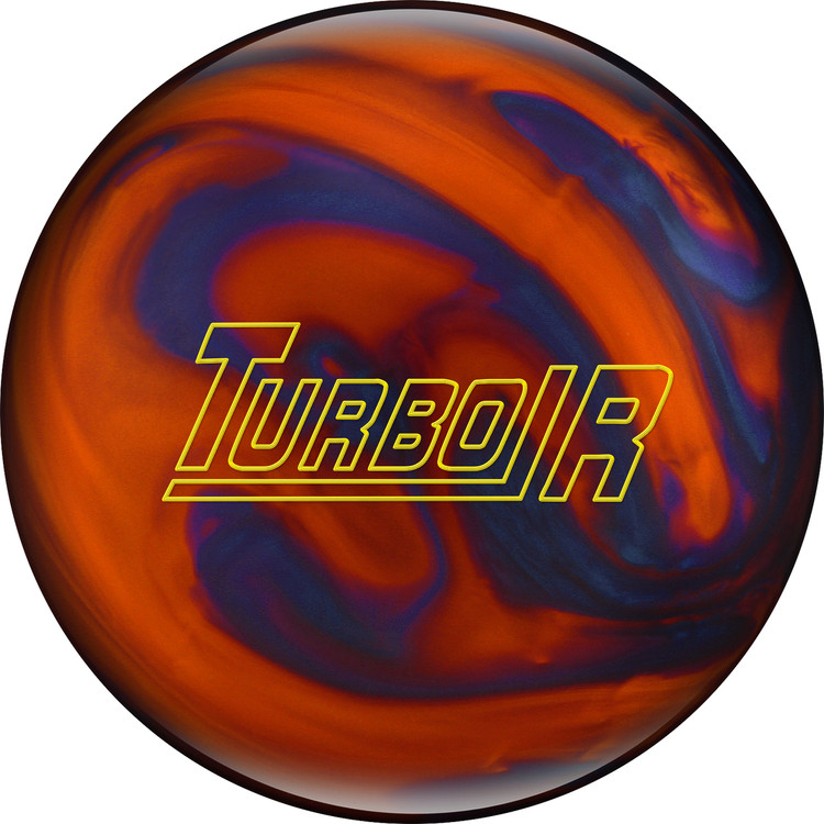 Ebonite Turbo/R Bowling Ball Orange Blue Pearl