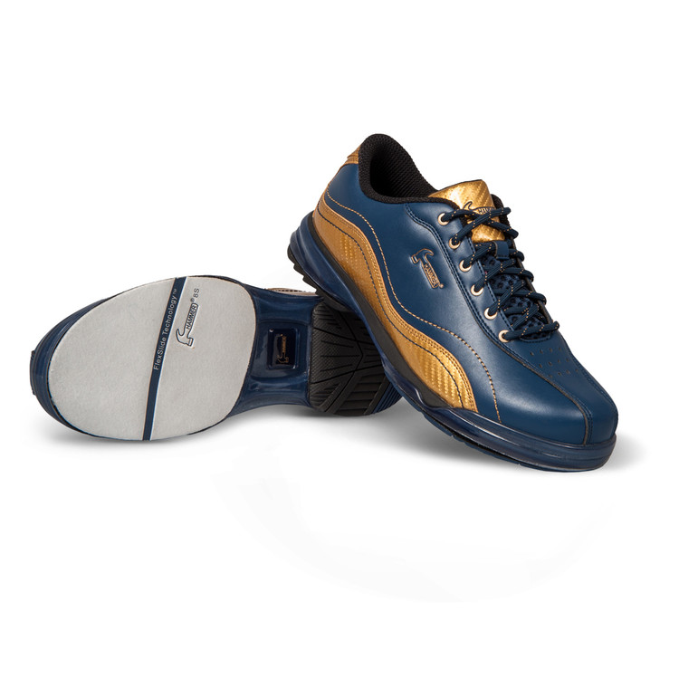 Hammer Admiral Mens Performance Bowling Shoes Navy Gold Right Hand