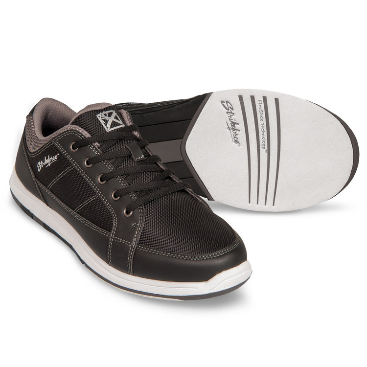 KR Strikeforce Spartan Mens Bowling Shoes Black Charcoal