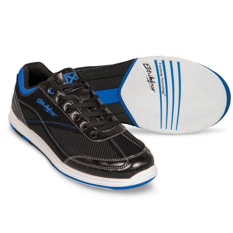 KR Strikeforce Titan Mens Bowling Shoes Black Royal