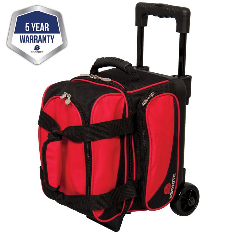 Ebonite Transport 1 Ball Single Roller Bowling Bag Red