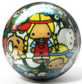Brunswick Viz a Ball Hello Kitty Collage Glow Bowling Ball
