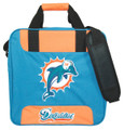 KR NFL Single Tote Bowling Bag Miami Dolphins