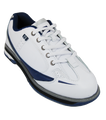 Brunswick Curve Bowling Shoes White Blue Front