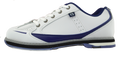 Brunswick Curve Bowling Shoes White Blue Side