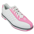 Brunswick Glide Bowling Shoes White Pink Front
