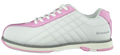 Brunswick Glide Bowling Shoes White Pink Side