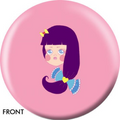 OTB Angel Szafranko Girl With Purple Hair Bowling ball 