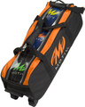 Motiv Clear View 3 Ball Triple Tote Roller Bowling Bag Black/Orange