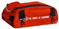 Vise 2 Ball Clear Top Roller Shoe Bag Red