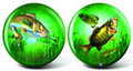 Brunswick Game Fishing Glow Viz a Ball Bowling Ball
