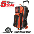 KR Orange Krush 3 Ball Roller Bowling Bag Orange