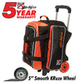 KR Orange Krush 2 Ball Double Roller Bowling Bag Orange
