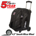 KR Cruiser Smooth 2 Ball Double Roller Bowling Bag Black