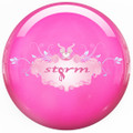 Storm Pink Clear Polyester Bowling Ball