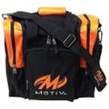 Motiv 1 Ball Ascent Single Tote Bowling Bag Black Orange