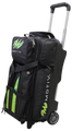 Motiv Deluxe 3 Ball Triple Roller Bowling Bag Black Green