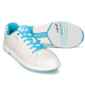 KR Strikeforce Satin Women's  Bowling Shoes White Aqua Wide Width
