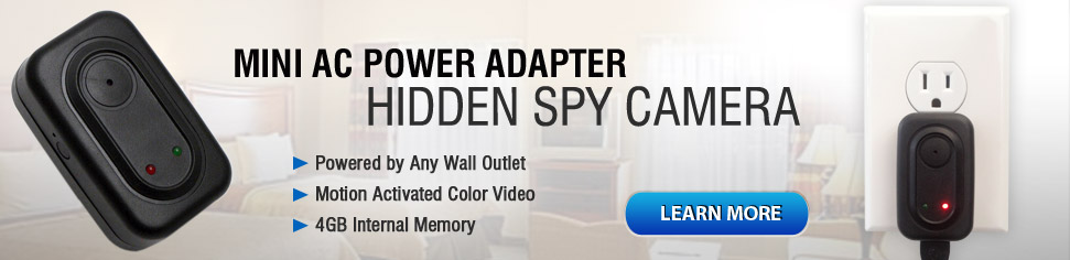 Mini AC Power Adapter Hidden Camera