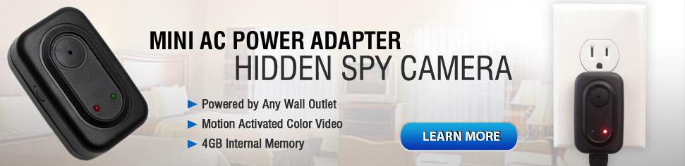 Mini AC Power Adapter Hidden Camera