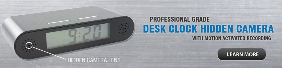 Desk Clock Hidden Spy Camera