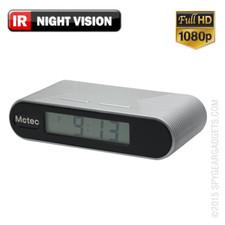 1080P HD Desk Clock Hidden Camera with Night Vision
