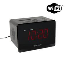 720P HD WiFi / Internet Streaming Alarm Clock Hidden Camera with Night Vision