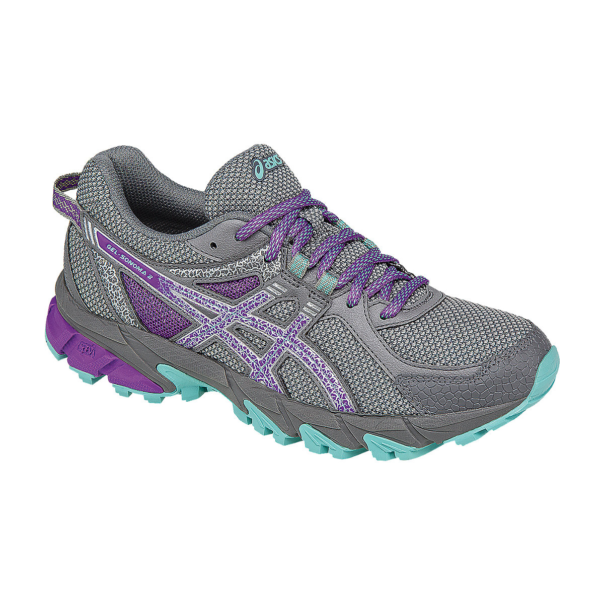 ... Asics Women Shoes Gel-Sonoma 2 (D) color Taupe/Orchid/Pool Blue  T685N9633. Image 1