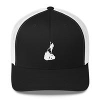 Block Island White Logo Trucker Cap