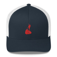 Block Island Red Logo Trucker Cap
