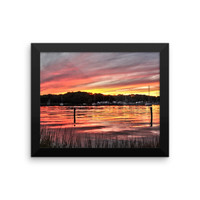 Salt Pond Narragansett Framed photo paper poster