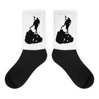 Block Island Black Logo Socks
