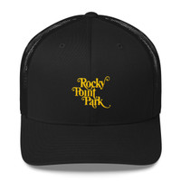 Rocky Point Park Yellow Logo Trucker Cap