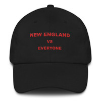 New England VS Everyone Red Font Dad hat
