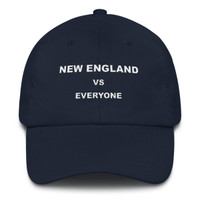 New England VS Everyone White Font Dad hat