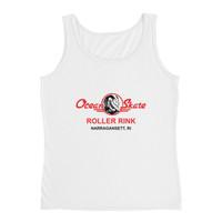 Ocean Skate Roller Rink Red Logo Ladies' Tank