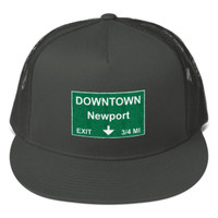 Downtown Newport Exit Mesh Back Snapback