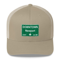 Downtown Newport Exit Trucker Cap