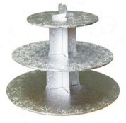 Silver 3 Tier Cupcake Stand
