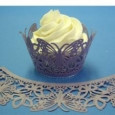 Cupcake Wrappers Butterfly Mauve
