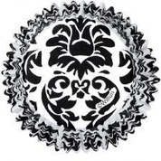 Baking Cup Damask Black on White ColorCups