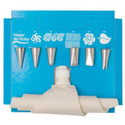 Ateco 8 Piece Decorating Set with Flex Bag