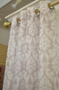 """Mallory Printed Faux Linen 54""""x84"""" Sheer Voile Decorative Light Filtering Curtain Panel Grommet Top, 2 Pack"""