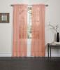 Lisa Sheer Voile Window Curtain Panel - Orange